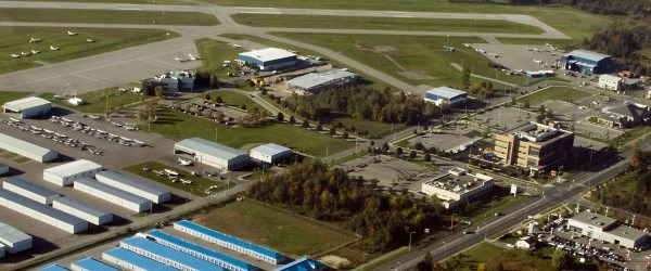 Ariel view of the Oshawa Municipal Airport