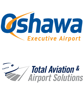 Oshawa Executive Airport and Total Aviation and Airport Solutions logos
