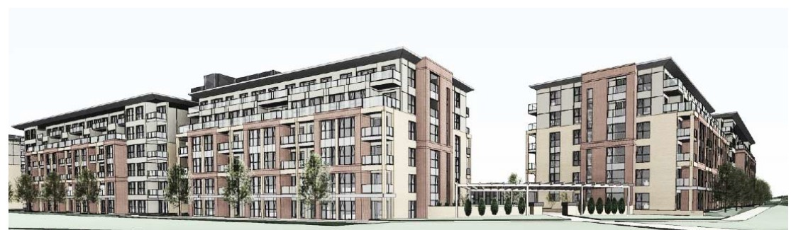 Rendering of new residential development