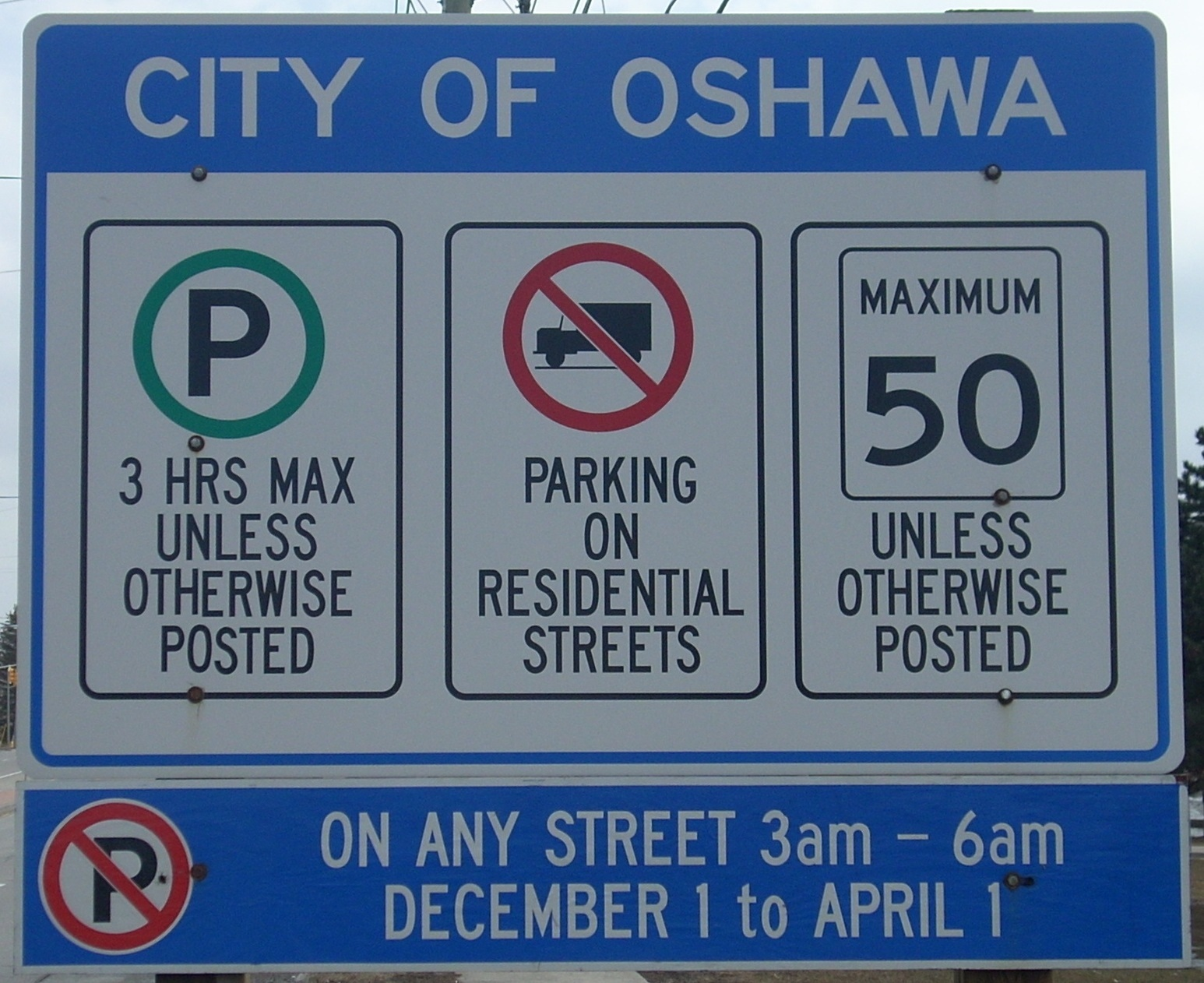 general parking restrictions sign