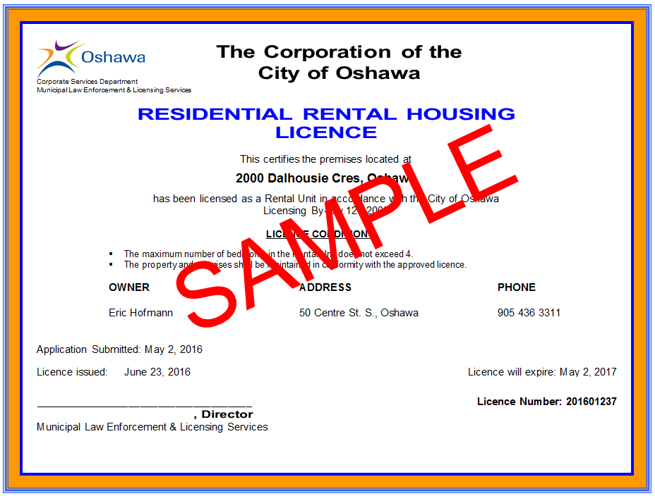Residential Rental Housing City Of Oshawa