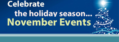 Learn more about our November seasonal events. image