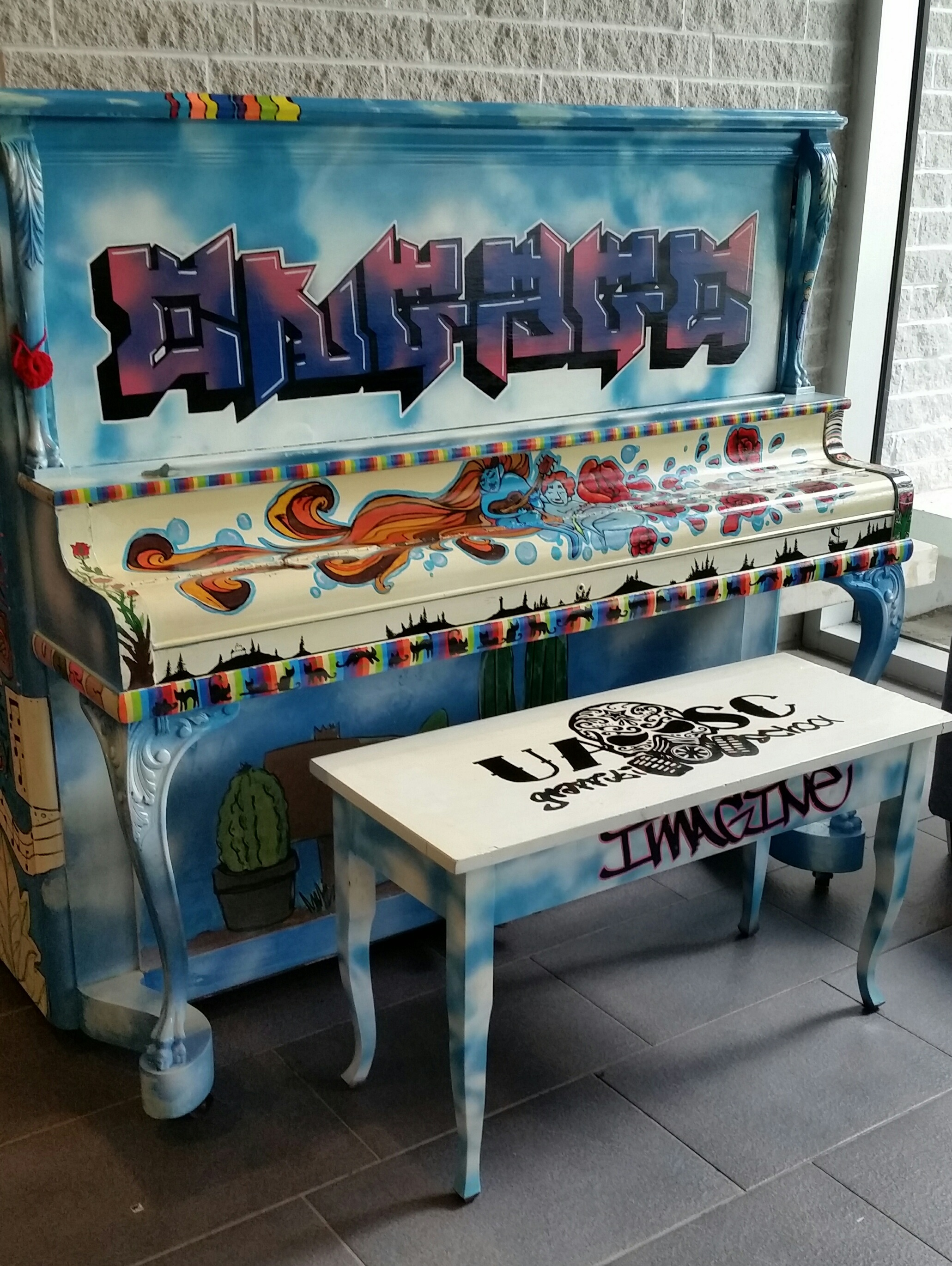Graffiti designed piano