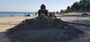 Sand sculpture at Canada Day