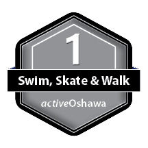 Level 1, swim, skate & walk logo
